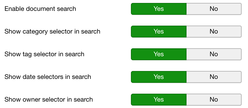 Improved search view